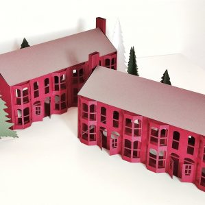 Victorian Terraced House, Paper House, Modern Christmas Decorations, British Home Decor